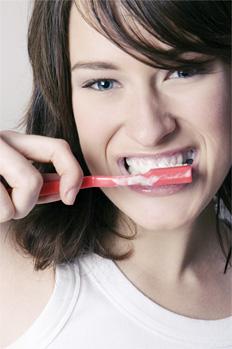 clean dental implant